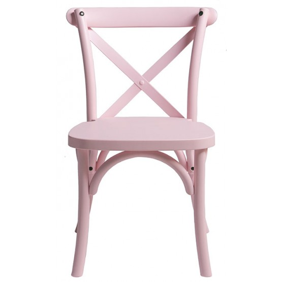 Pink Children X back chair
