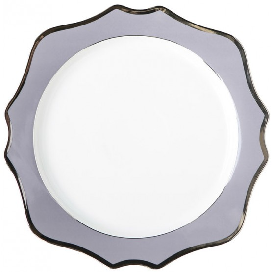 Purple Charger Plate with white gold rim